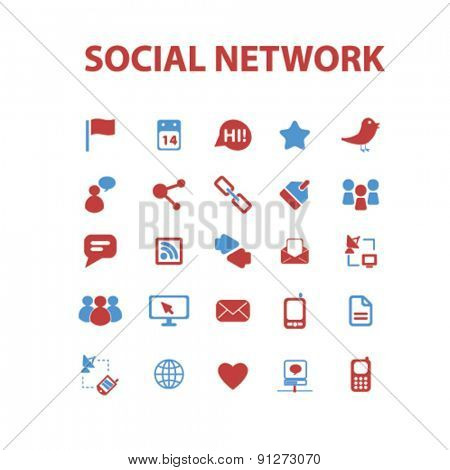 social network icons set, vector