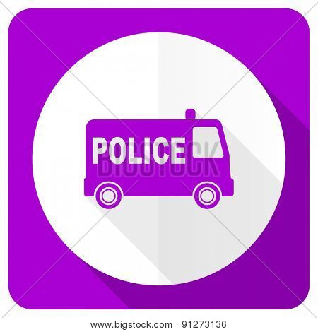 police pink flat icon