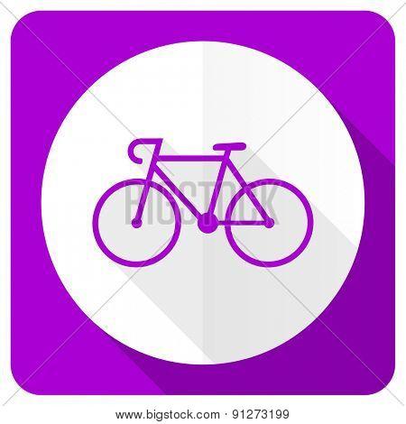 bicycle pink flat icon bike sign