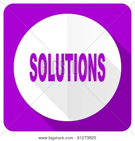solutions pink flat icon