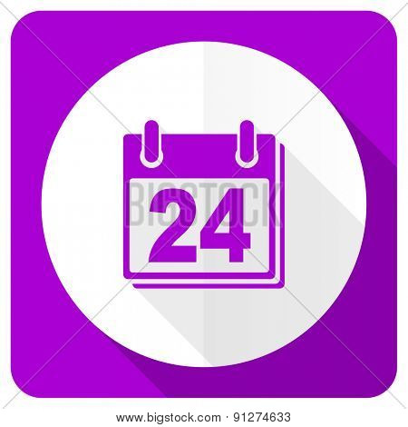 calendar pink flat icon organizer sign agenda symbol