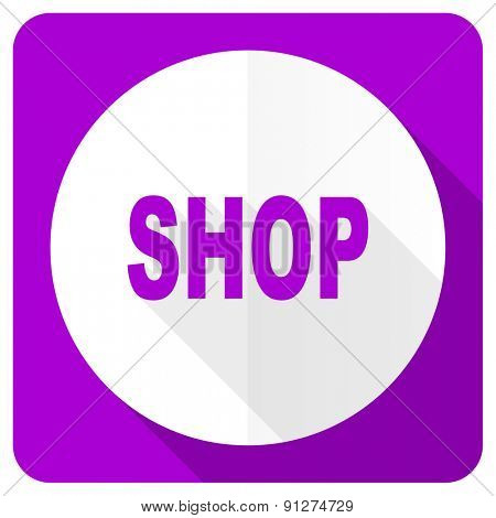 shop pink flat icon