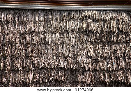 Thai Thatched Straw Roof Background