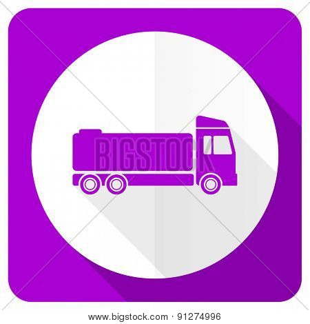 truck pink flat icon cargo sign