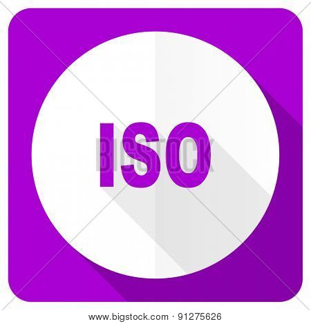 iso pink flat icon