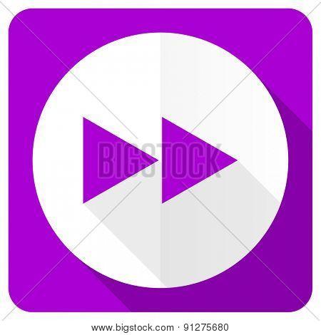 rewind pink flat icon