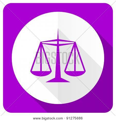 justice pink flat icon law sign