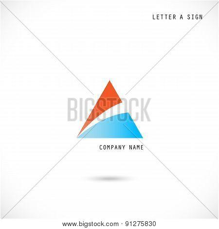 Creative Letter A Icon Abstract Logo Design Vector Template.