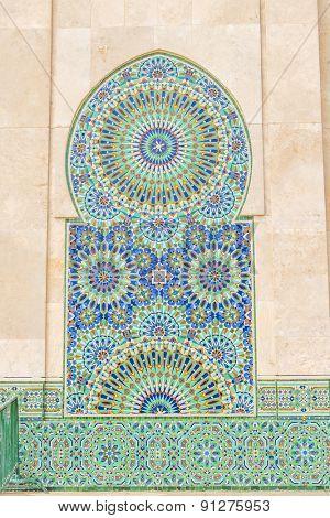 Hassan II Mosque in Casablanca, Morocco - mosaic
