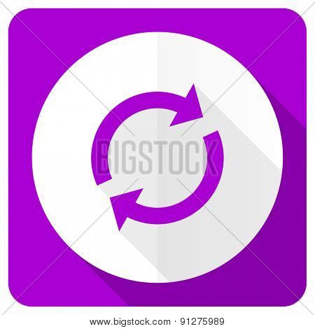 reload pink flat icon refresh sign