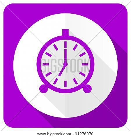 alarm pink flat icon alarm clock sign