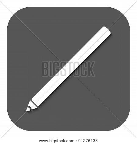 The Pencil Icon. Pen Symbol. Flat Vector
