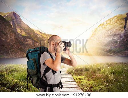 Pictures in a natural landscape