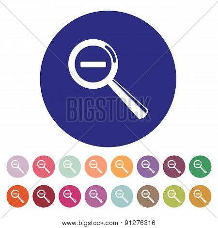 Magnifier Glass. Search Icons. Vector. Set