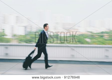 Running late for flight