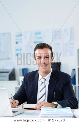 Businessman at workplace