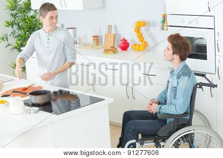Cooking for a disabled friend