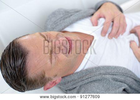 Man having heart pain