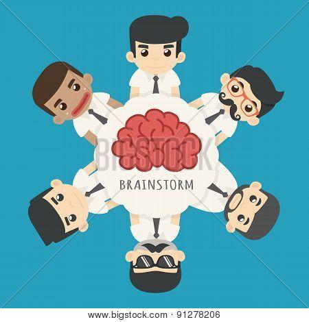 Businessman Brainstorm