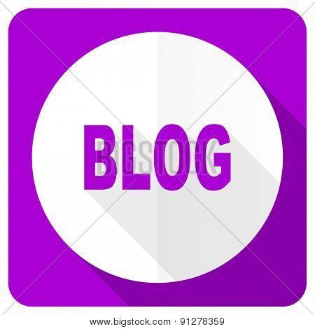blog pink flat icon