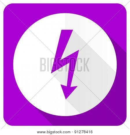 bolt pink flat icon flash sign