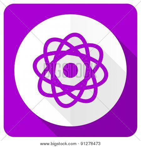 atom pink flat icon