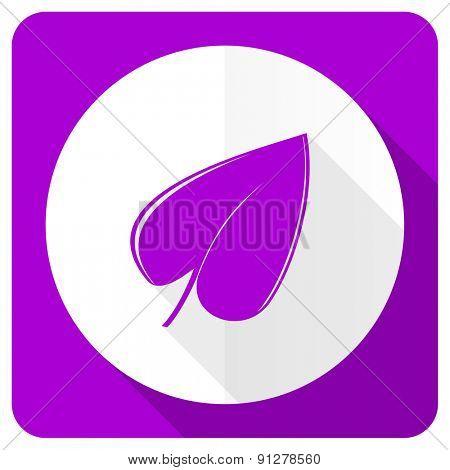 nature pink flat icon leaf symbol
