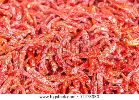 A Stack Dried Chilies