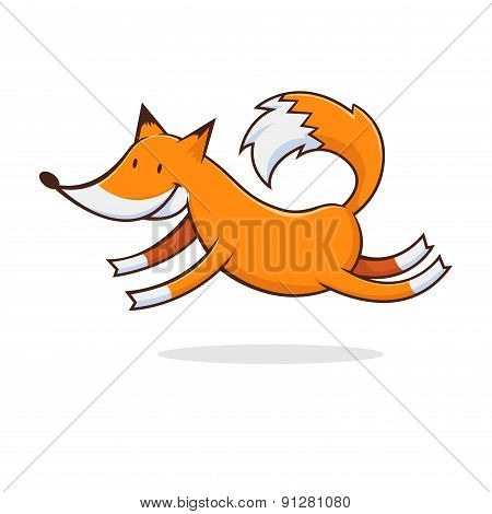 Jumping Fox Illustration
