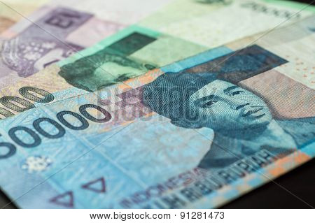 Some Banknotes Of Indonesian Rupiah