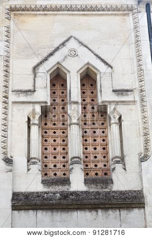 Detail on Perigueux's Masonic Lodge