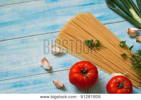 Uncooked Spaghetti And Spices