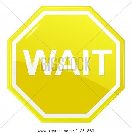 Wait stop sign, vector