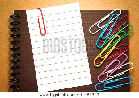 Note Paper With Paperclips