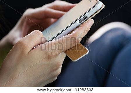 Hands Using A Smartphone