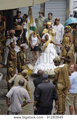 Street Performers During The Carnival Festival. Rio De Janeiro, Brazil