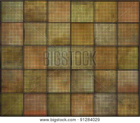 Orange Square Tile Grunge Circle Pattern Backgrounds Collection