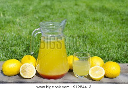 Lemonade With Red Syrup