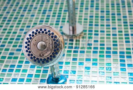 Close Up On Old Head Shower
