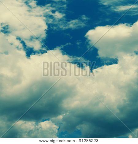Stormy sky panorama, Toned photo
