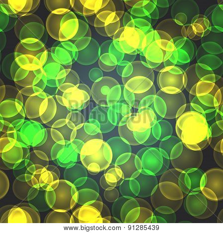 Abstract Textile Seamless Pattern Of Green And Yellow Points Of