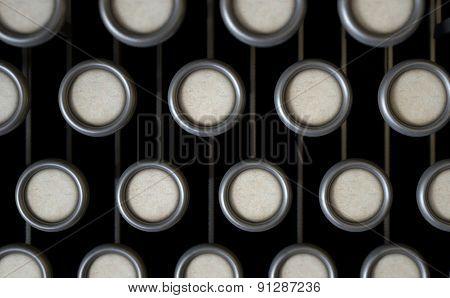 Vintage Typewriter Blank Keys