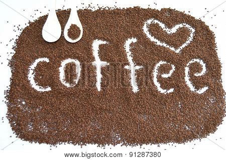 granulated coffee