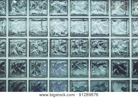 Pattern Of Glass Block Wall For Background