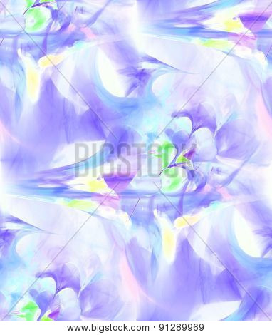Seamless Abstract Fractal Background In Violet, Blue