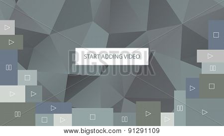 Start adding video. Abstract gray polygonal geometric background for website.