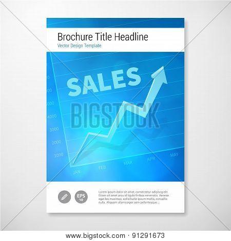 Modern Vector Positive Sales Brochure Report Design Template