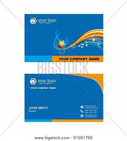 Music Shop Name Card