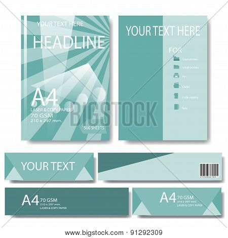 Abstract Geometric Vector Template. Design Template In A4 Size