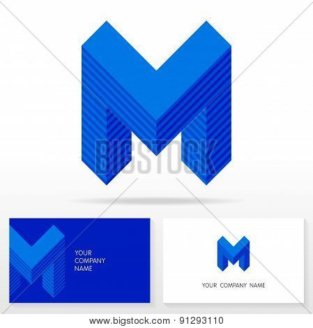 Letter M logo icon design template elements - Illustration.